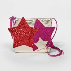NWT Girls Star Applique Crossbody Purse Cat & Jack